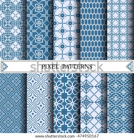 pixel pattern, textile, web page background, surface textures