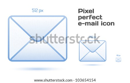 Pixel perfect email icons - stock vector