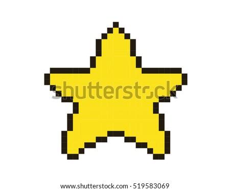 piq - Mario´s Star | 100x100 pixel art by Zakare  |Pixel Star