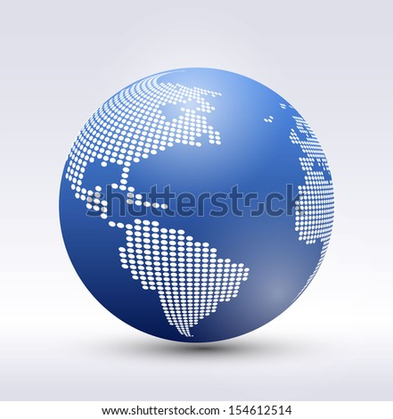 Pixel vector Earth  - stock vector