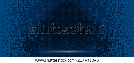 Pixelated screen, digital technology concept background