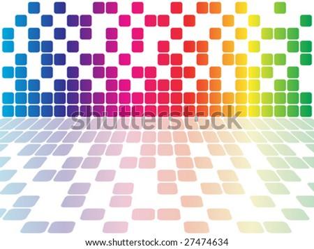 pixels vector illustration - stock vector