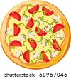 pizza - stock vector