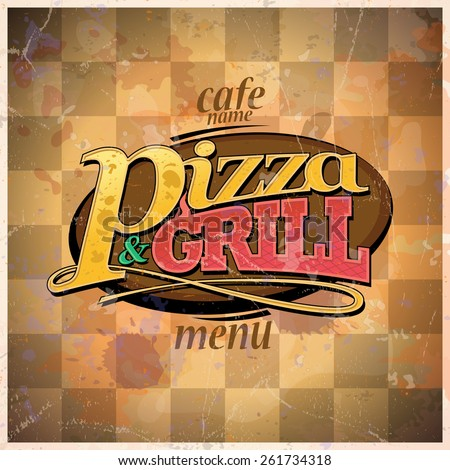 Pizza and grill menu. Eps10 - stock vector