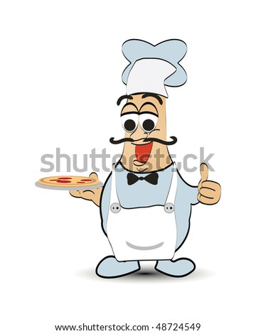 Pizza Chef - stock vector