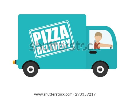 pizza delivery design, vector illustration eps10 graphic