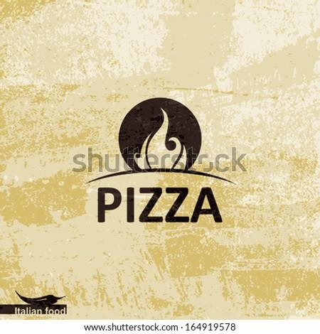 Pizza design - stock vector
