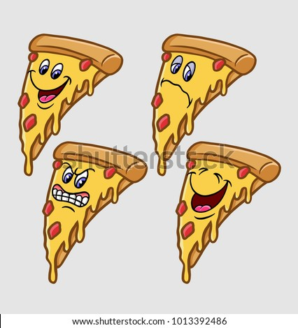 Pizza Emoji Expression Cartoon Character, Good Use For Symbol, Logo, Web  Icon,