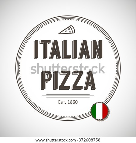 Pizza fast food background - stock vector