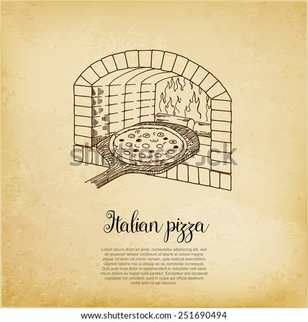 Pizza flyer, cooking method, bakery - stock vector