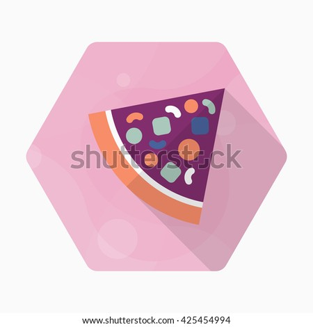Pizza icon , Vector flat long shadow design.