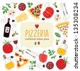 pizza illustration  - stock vector