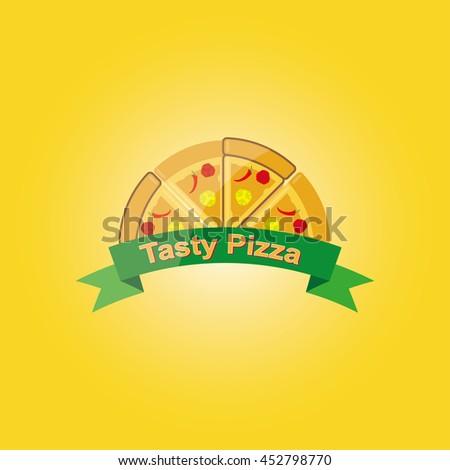 Pizza Logo Symbols Fast Food Restaurant Stock Photo Photo Vector