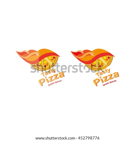 Pizza Logo Symbols Fast Food Restaurant Stock Vector 452798776