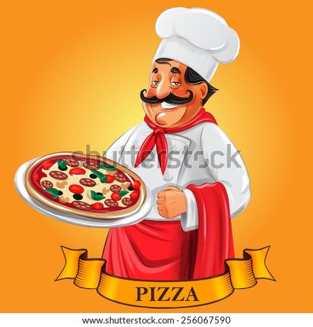 pizza menu tape - stock vector