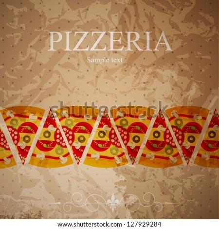 Pizza Template For Menu Banque dImage Libre de Droit Photos – Sample Pizza Menu Template