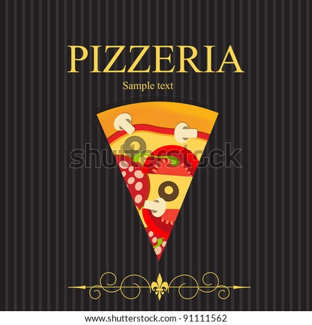 Pizza Menu Card Design Stock Images RoyaltyFree Images  Vectors