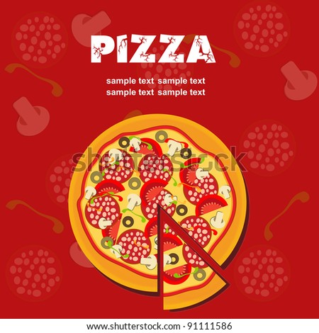 Pizza Menu Template, vector illustration - stock vector