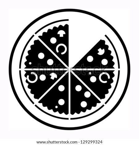Pizza sign, vector illustration - stock vector