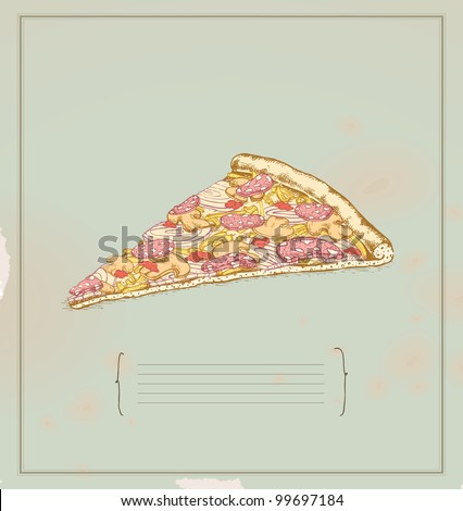 pizza slice- drawing