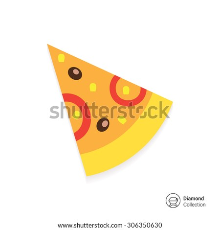 Pizza slice icon - stock vector