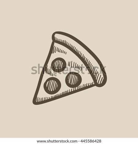 how to draw pizza cartoon