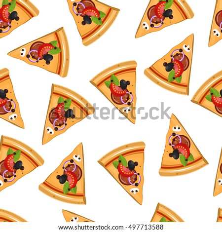 Set traditional mexican food burrito taco stock vector for Space pizza fabric