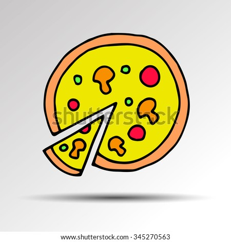 pizza vector food slice illustration cheese restaurant