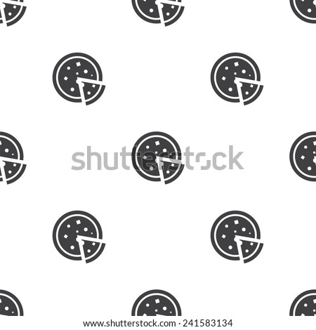 pizza, vector seamless pattern, Editable can be used for web page backgrounds, pattern fills   - stock vector
