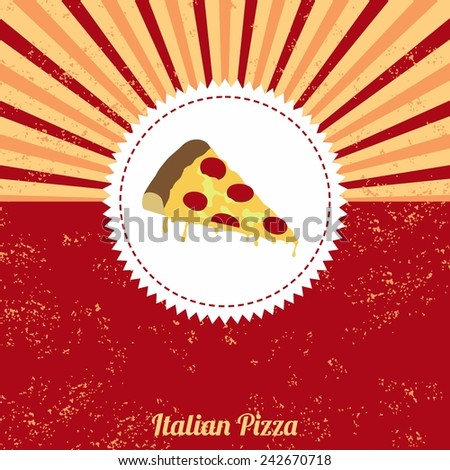 pizza vintage template - stock vector