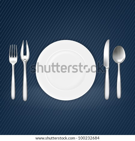 Place setting, mesh - stock vector