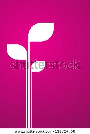 Placeholder in white sprout on velvet background. Abstract vector background. - stock vector
