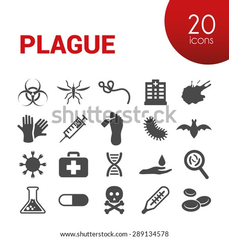 plague icons - stock vector