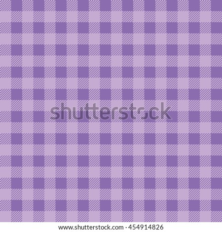 Plaid Kitchen Tablecloth Pattern With Vintage Purple Color. Seamless Pastel  Geometric Square Checkered Fabric Pattern