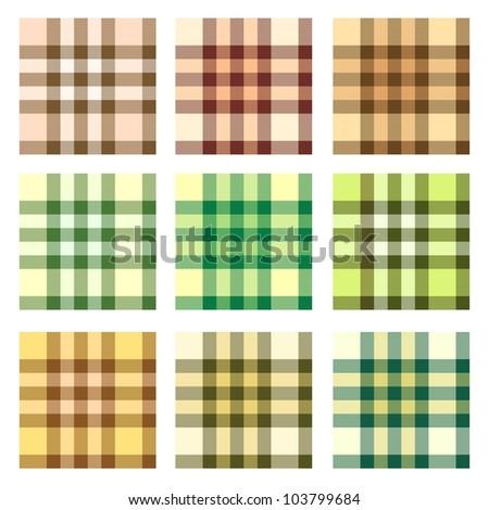 Plaid pattern design vector set - stock vector
