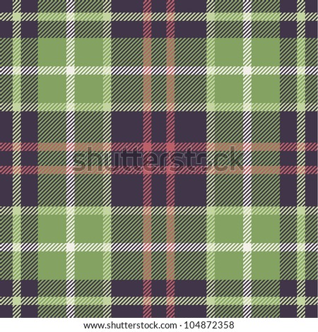 Plaid pattern in nature tones - stock vector