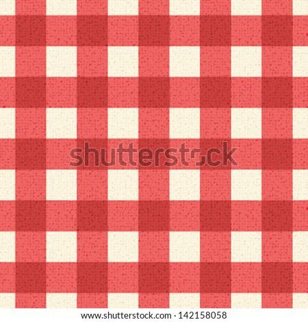 Plaid tablecloth 3 - stock vector