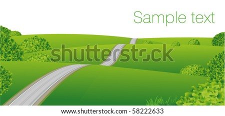 Plain landscape. Vector. - stock vector