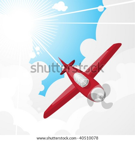 plane and sky - stock vector