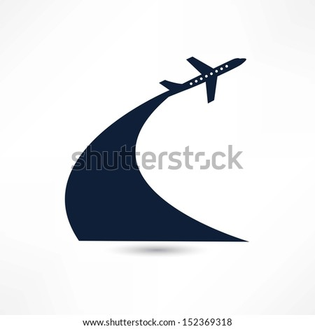 plane icon - stock vector