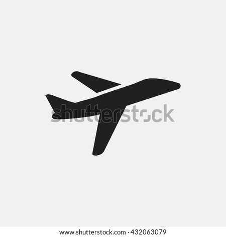 Plane Icon Stock Vector 432063079