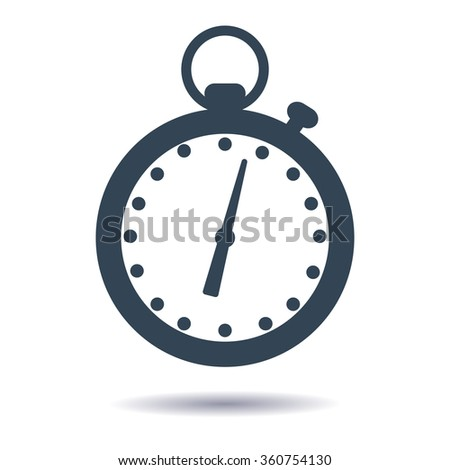 Plane icon stopwatch or timer. Vector illustration. - stock vector