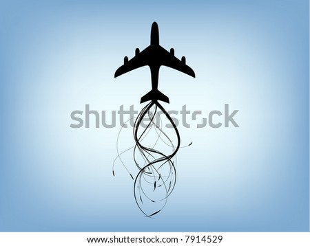 plane illustration - stock vector