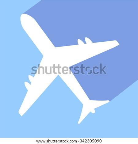 plane sign - stock vector