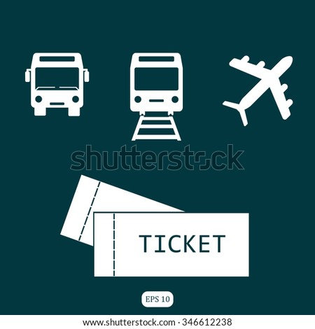 plane tickets bus and railway