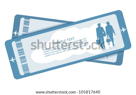 Plane tickets - vector illustration - stock vector