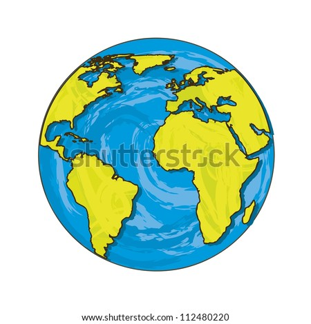 planet cartoon isolated over white background. vector illustration