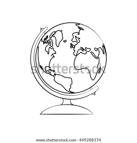 Planet concept represented by earth sphere icon. isolated and flat illustration  - stock vector