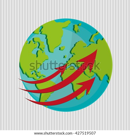Planet design. World icon. Flat illustration