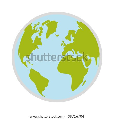Planet design. World sphere icon. vector graphic - stock vector